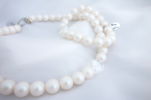 Collier de perles nacrées Swarovski