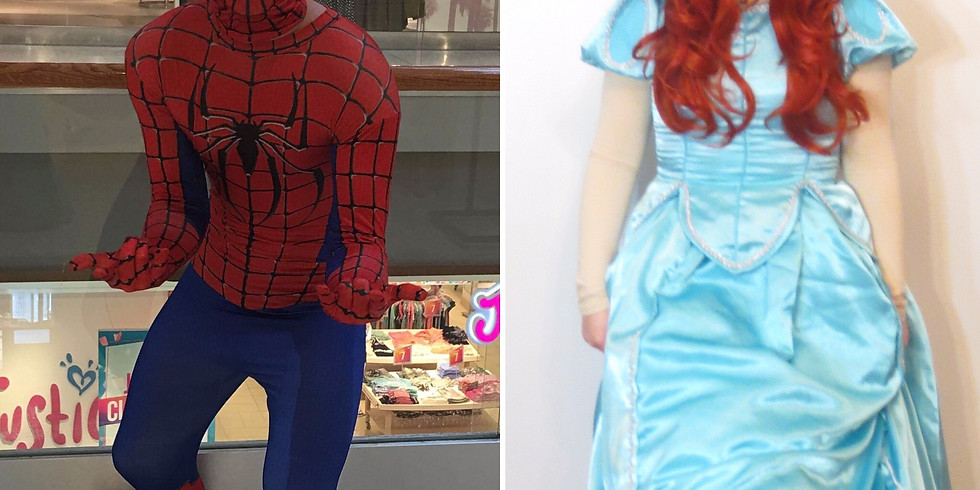 Free! Meet and Greet with Spider Guy and Mermaid Princess