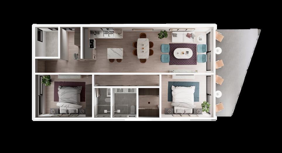 UR-CC Villas-Villa C-3D Floor Plan V1.pn