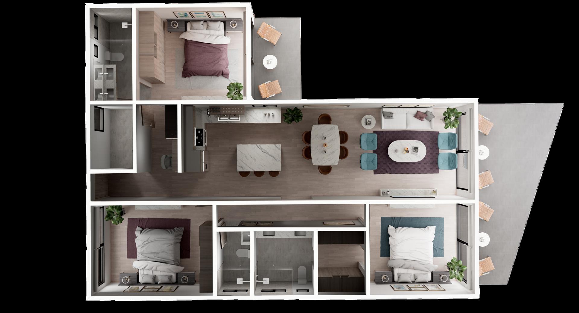 UR-CC Villas-Villa A-3D Floor Plan V1.pn