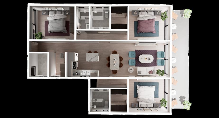 UR-CC Villas-Villa D-3D Floor Plan V1.pn