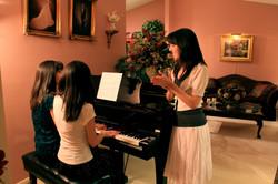 Three Little Women & A Piano