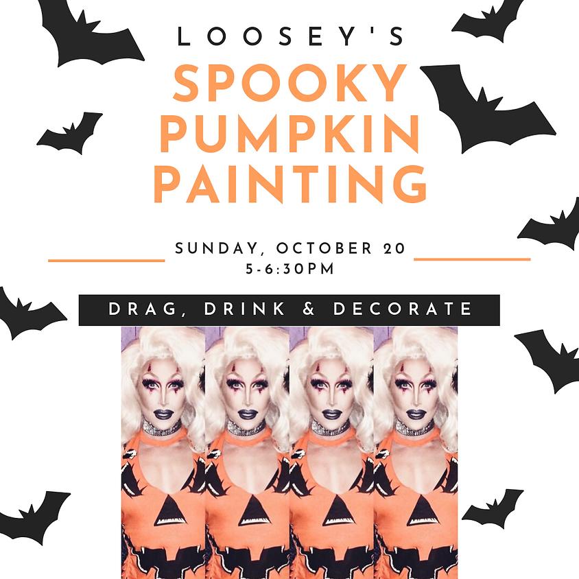 Loosey's Spooky Pumpkin Painting