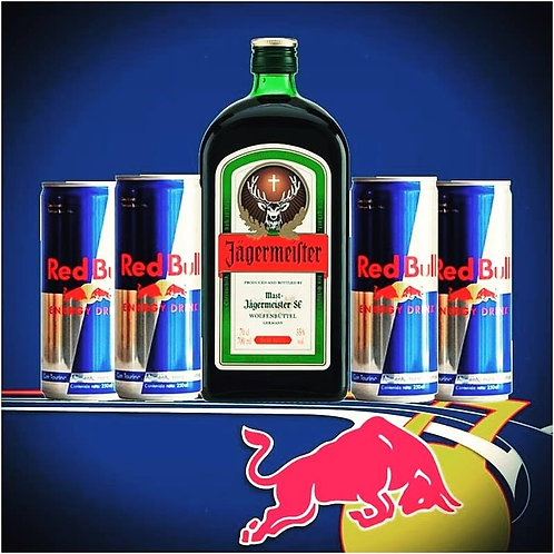 JAGERMEISTER PACKAGE (6 Red Bull)