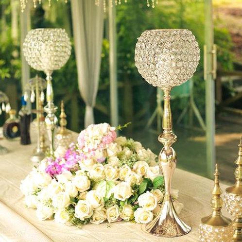Crystal Goblet Candleholder