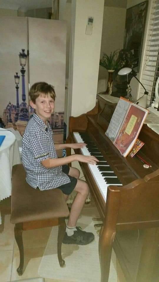 Ryan always enjoys piano but singing see