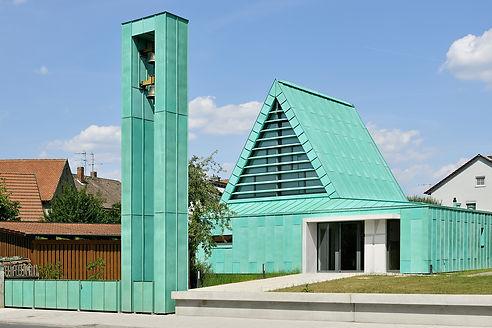 Buttenheim Evangelische Kirche Kupfer Patina