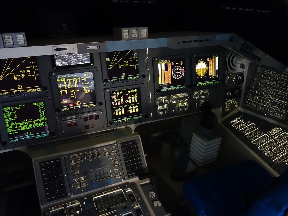 Cuadros de mando del transbordador