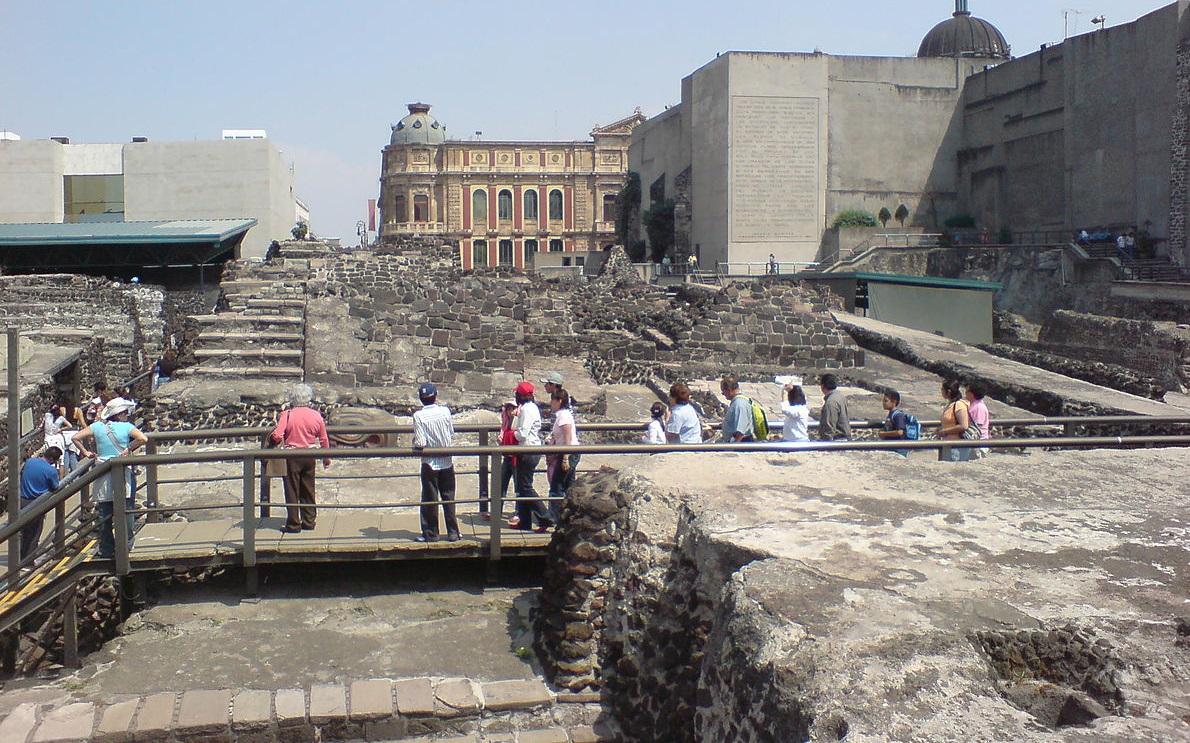 Aztec Main Temple Ruins