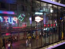 Gay Bar Row at Night