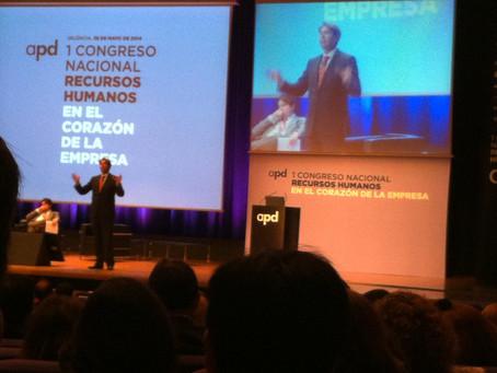 Éxito de participación y contenidos en el I Congreso Nacional de RRHH de APD en Valencia.  Cristóbal