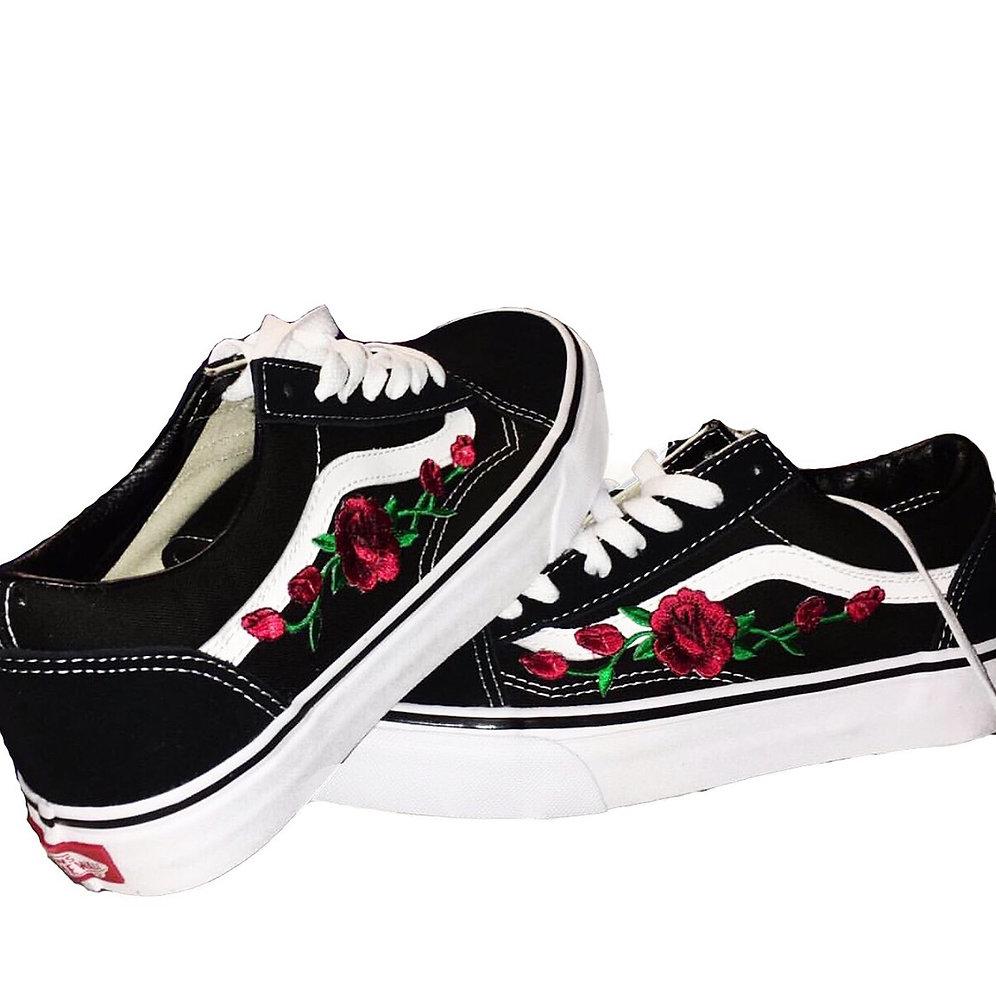 vans old skool and roses