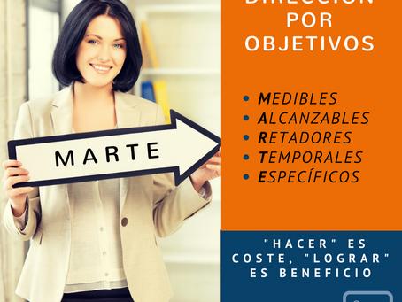 """Dirección Por Objetivos: """"HACER"""" es coste, """"LOGRAR"""" es beneficio"""