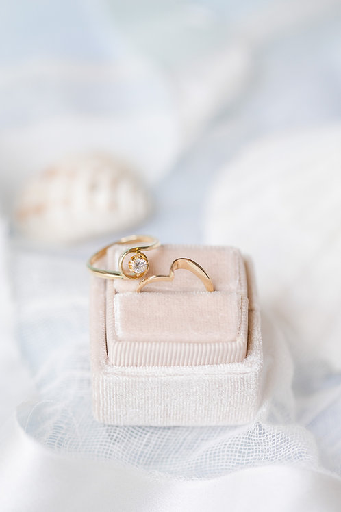 Vintage Engagement Ring Set