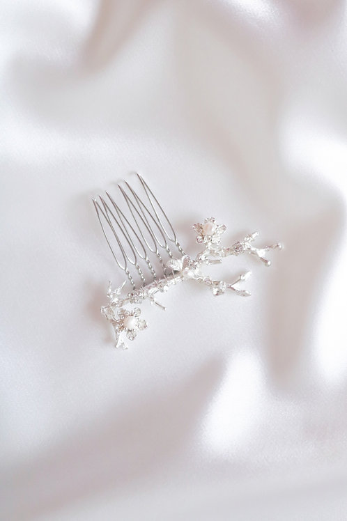 flower bridal comb