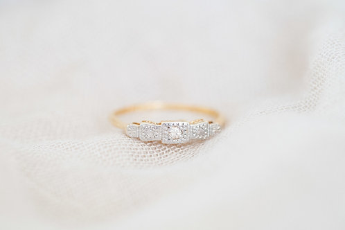 Diamond Lace Engagement Ring