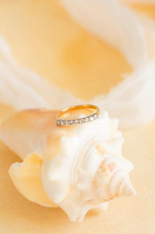 Art Deco Diamond Engagement Band