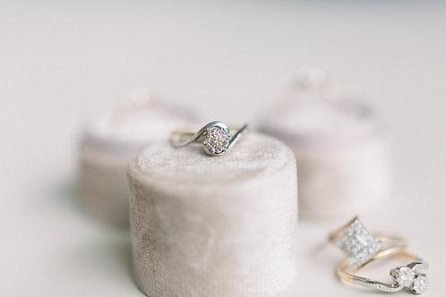 halifax vintage diamond engagement ring