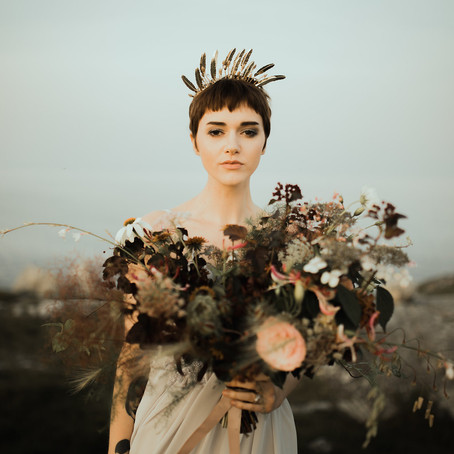 Moody Elopement by the Sea