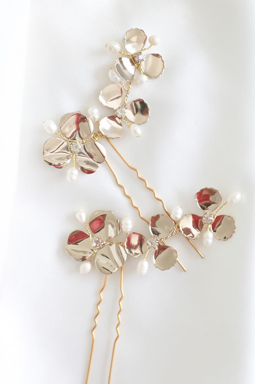 flover pearl hairpin