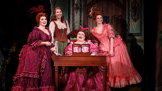 "Cinderella National Tour ""A Lovely Night"" (from L to R Sarah Smith, Kaitlyn Mayse, Joanna Johnson, Natalie Girard) Copyright Carol Rosseg"