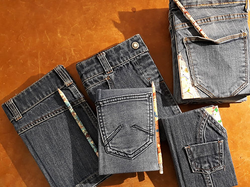Les carnets en jeans (denim oblige) pour écrire ou dessiner