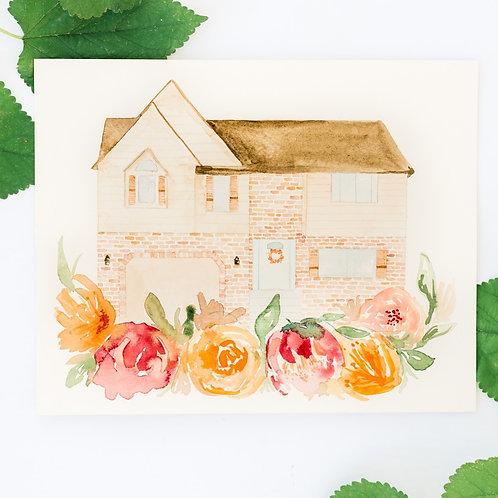 CUSTOM HOME - FLORAL WREATH