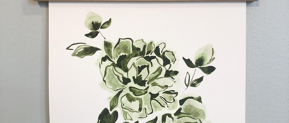 EARTHY GREEN FLORAL ORIGINAL