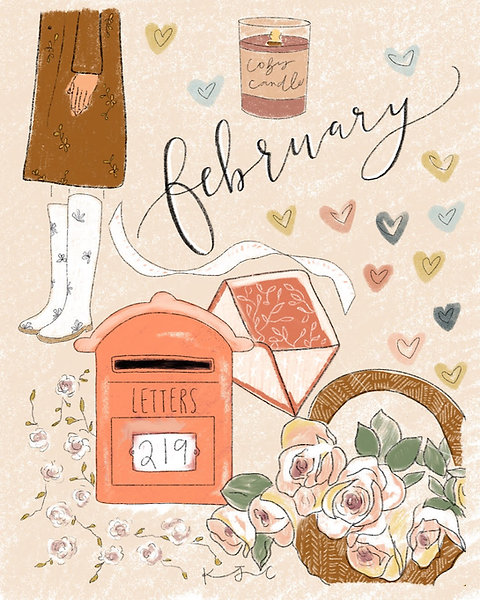 """February"" Free Digital Download"