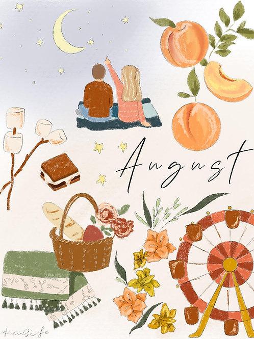 August Free Digital Download