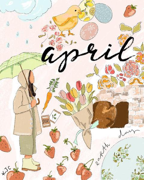 """""""April"""" Free Digital Download"""