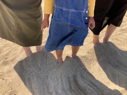 砂浜のアーシング