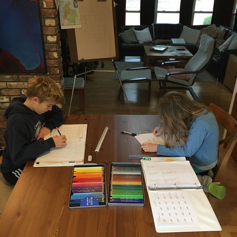 Brother and Sister Distance Learning