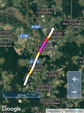 熱気球の航路