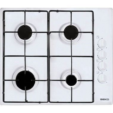 BEKO Table de cuisson Gaz HIZG64120 SW Blanc