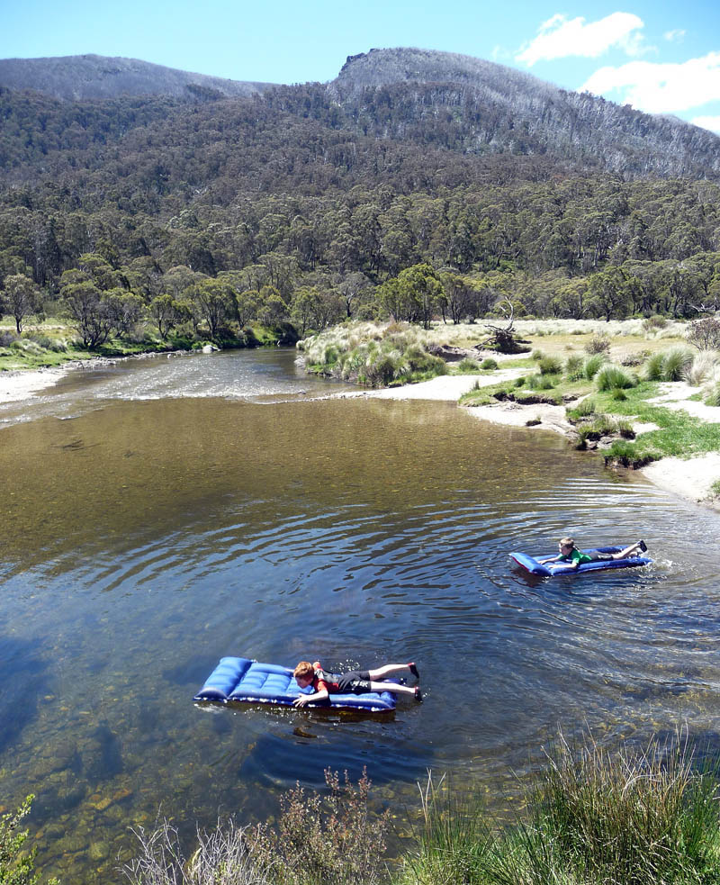 Thredbo River LiLos and wetsuits copy