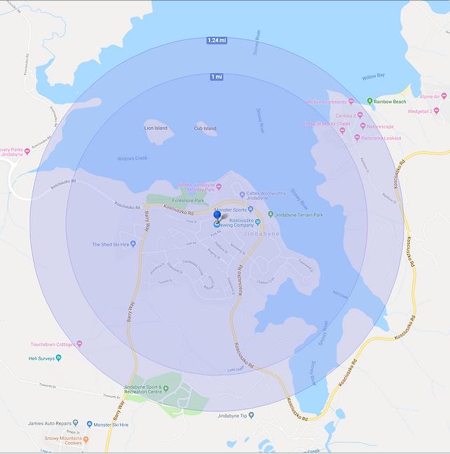 JCS STSS Radius Map