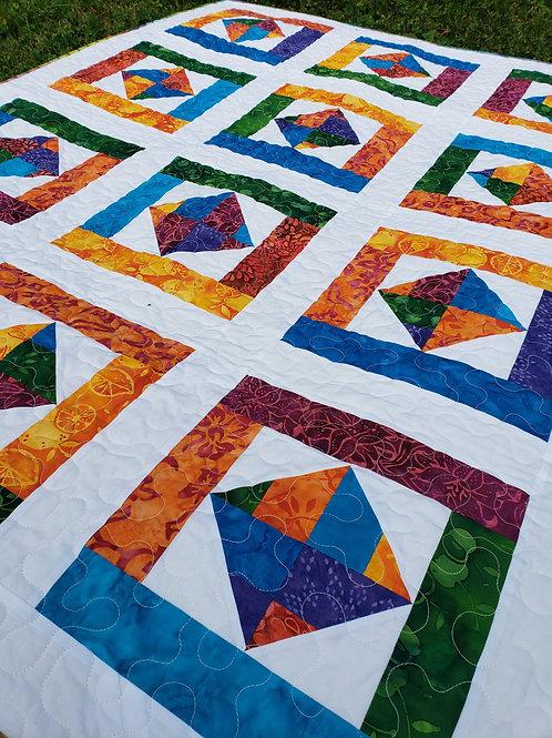 Scrappy Squares Custom Quilt