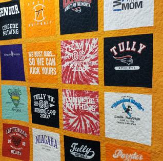 Block Style T-shirt quilt.