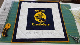 Raffle Quilt with T-shirt.