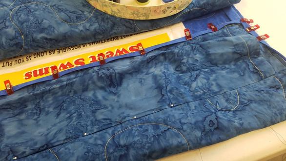 Sleeve and Binding sewn.