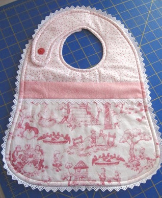 Lace surround Bib