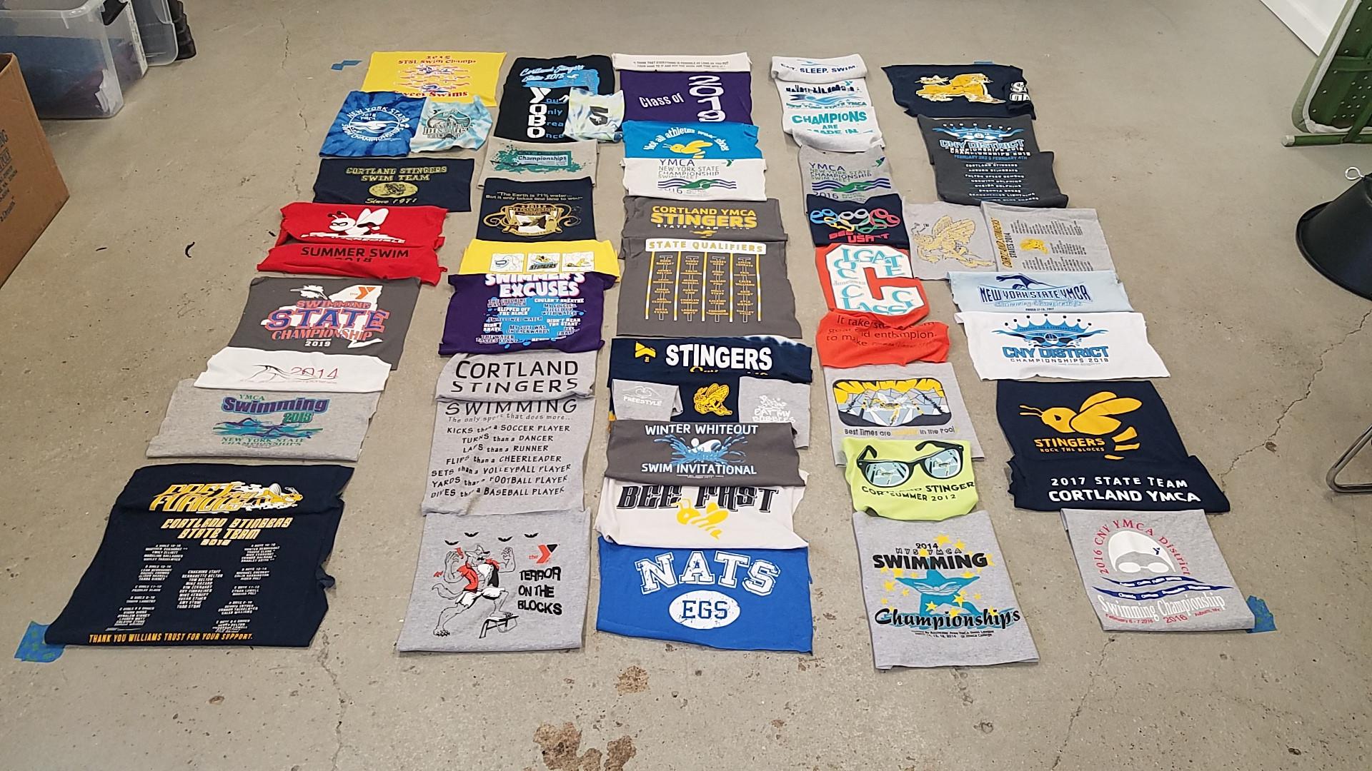 Layout of T-shirts.