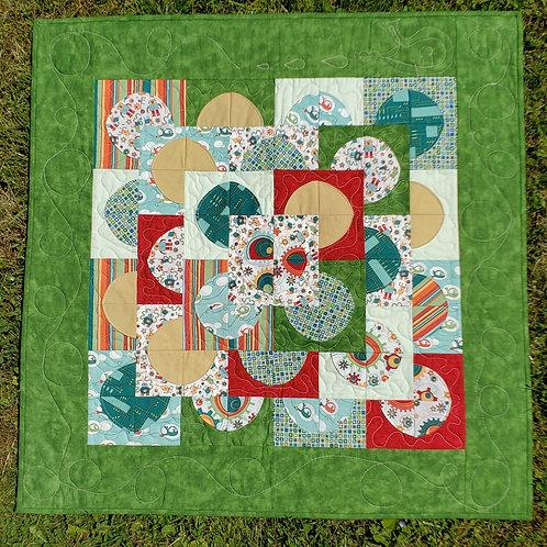 """""""Spacegears"""" - Infant quilt"""