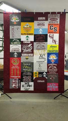 Twin size Custom Style T-shirt quilt.