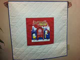 T-shirt wallhanging and autograph borders!