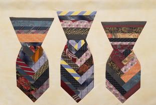 Silk Tie wallhanging
