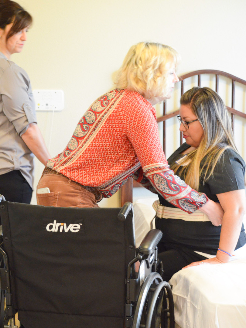 Caregiver Transfer form Wheelchair