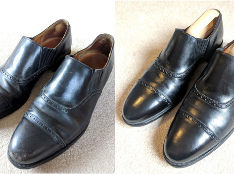 Basic renovation on a pair of vintage Edward Green Lazyman shoes