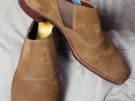 G.J. Cleverley Snuff Suede Lazyman Shoes review